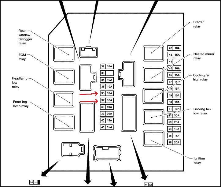 2005 Nissan Armada Fuse Box Diagram