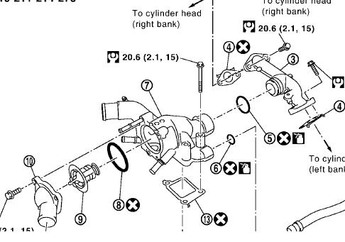 Nissan Engine Thermostat Diagram